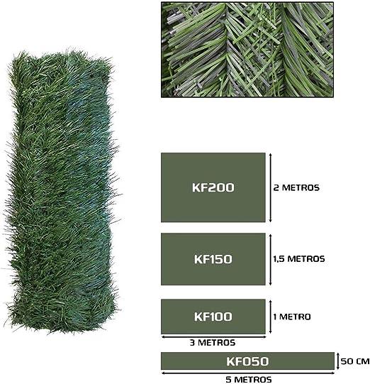 Seto Decor KF050B Seto Artificial Decorativo de Hoja Fina de 0, 5 x 5 Metros, Color Verde: Amazon.es: Jardín