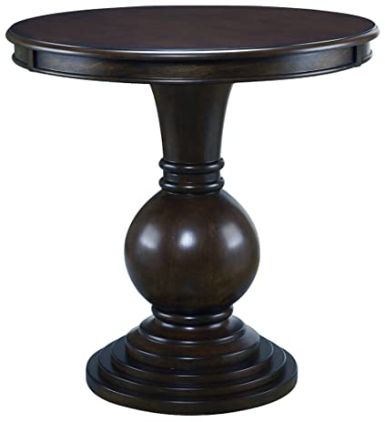 Perfect Dark Cherry Pedestal Side Table