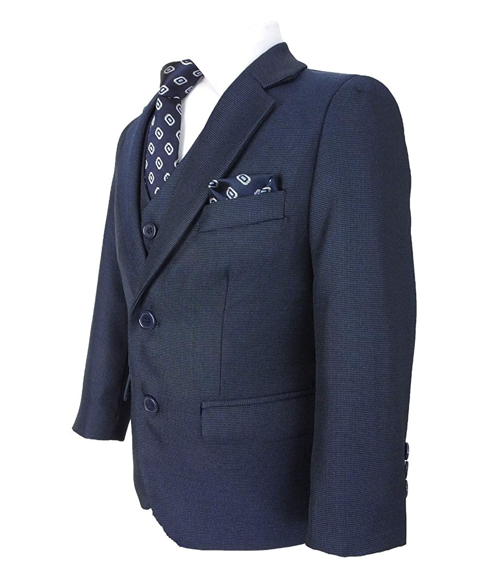 SIRRI Tailored Fit Hochzeitsset Kinder All in One Jungen Anzug 6 Teilig