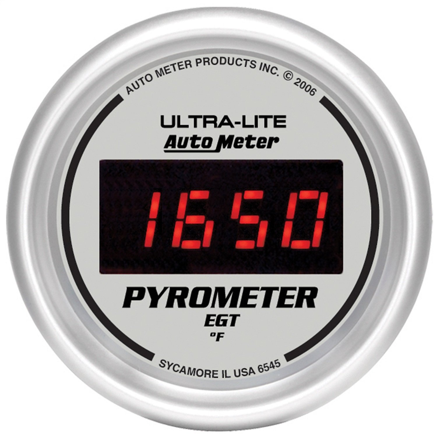 Exhaust Gas Temperature Auto Meter 6545 Ultra-Lite Digital 2-1//16 0-2000 F Digital Pyrometer E.G.T.