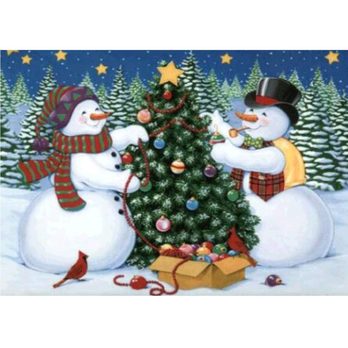 5D Pintura por Diamantes (ITM26192) muñeco de nieve