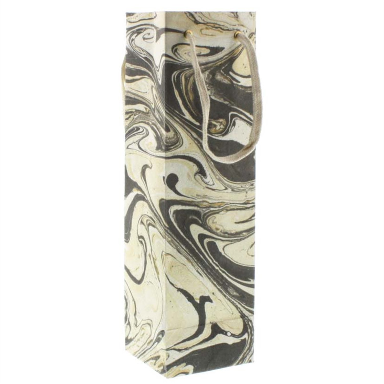 HomArt Marbleized Paper Wine Bag (Grey) (Set of 36)
