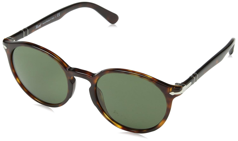 Persol Herren Sonnenbrille 0Po3171S 24/31, Braun (Havana/Green), 49