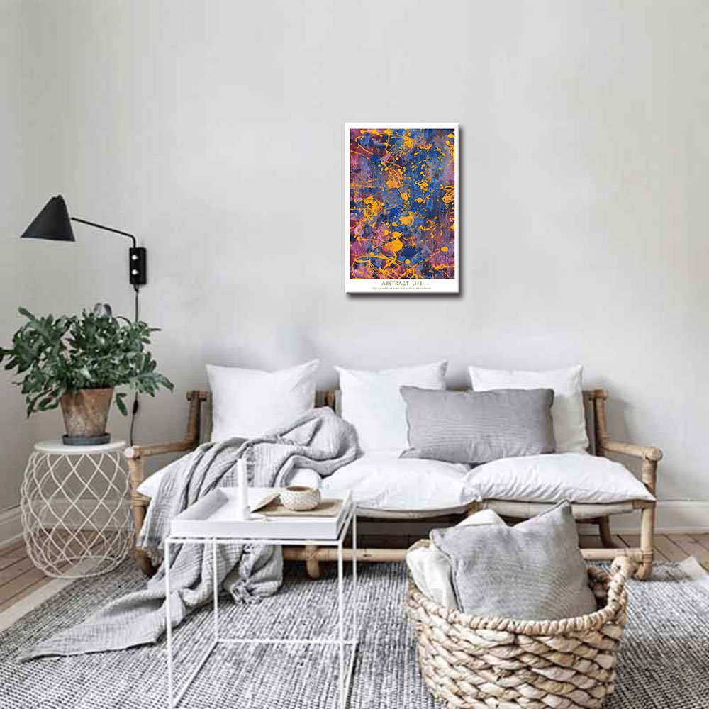 12x16, Green DVQ ART Abstract Wall Art Mural Modern Graffiti Prints Poster Stretched Pictures Ready to Hang Artwork for Bedroom Office Decoration