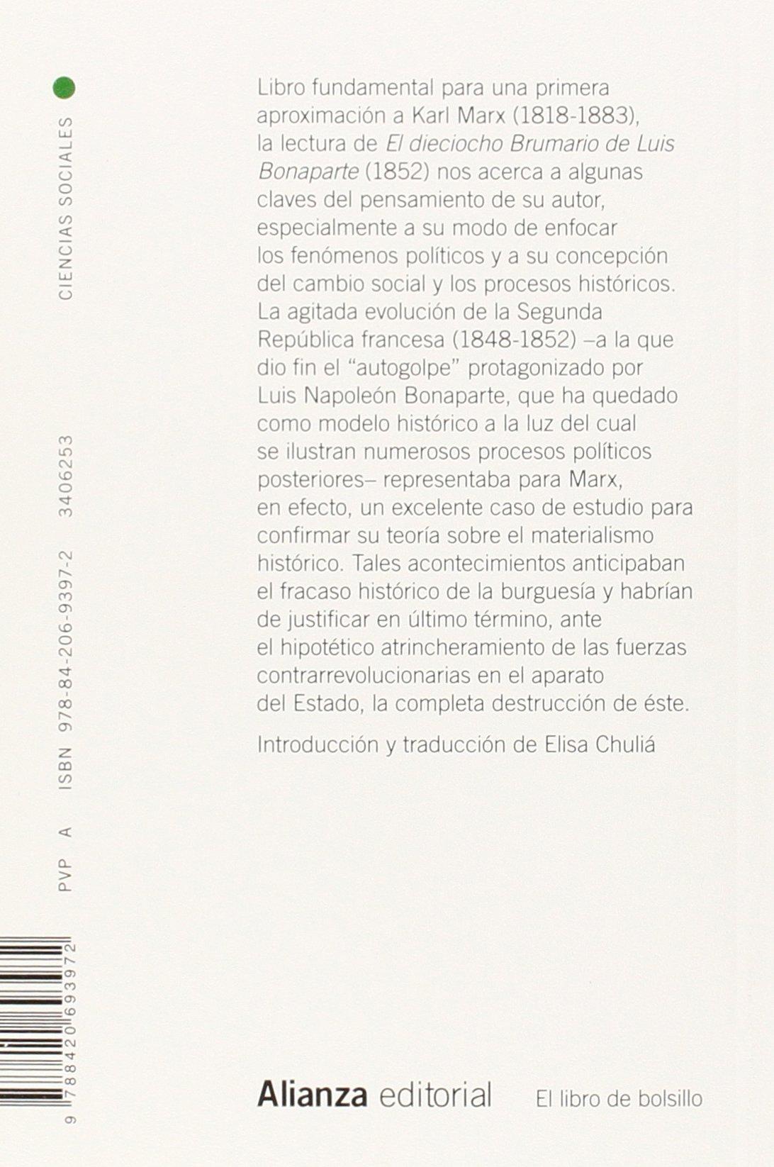 El dieciocho Brumario de Luis Bonaparte El libro de bolsillo ...