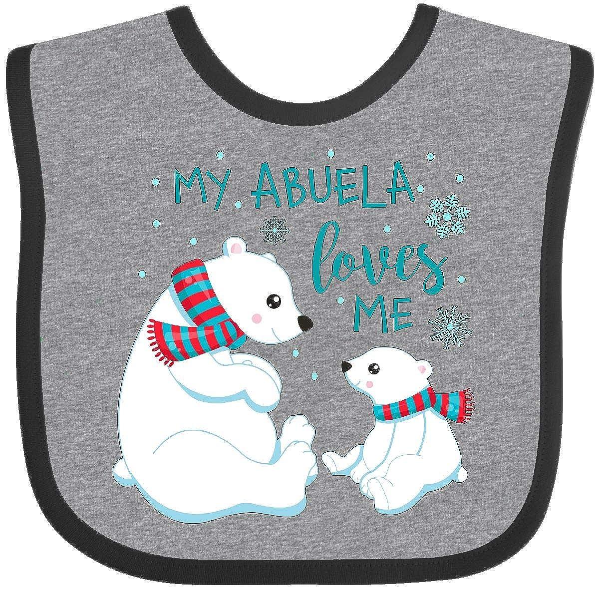 Inktastic - My Abuela Loves Me- cute polar bears Baby Bib 2d36d 14-185197-116-893-2993