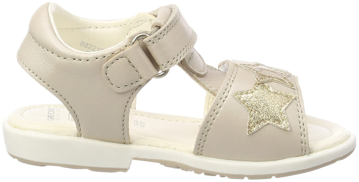 4.5 US Beige//Gold 20 M EU Toddler Geox Girls VERRED 15 Sandal