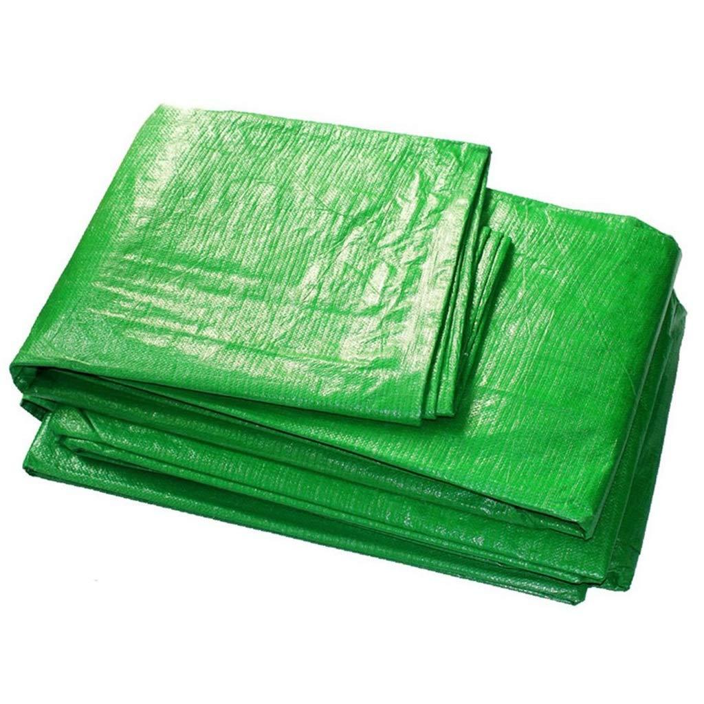 ターポリン アイレット付き防水防水シート厚手の防水シートシート日焼け止め日よけ日よけ布、140 g/m 2、カラーストリップ (サイズ さいず : 10mx12m) B07RYQP5CY  10mx12m