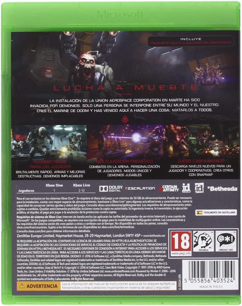 DOOM - Day One Edition: Amazon.es: Videojuegos