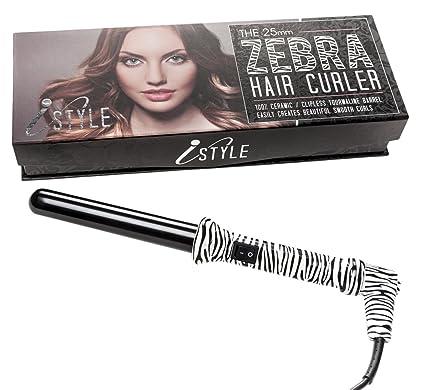 iStyle – Rizador de pelo de cerámica varita rizador de cabello 25 mm – Ideal para