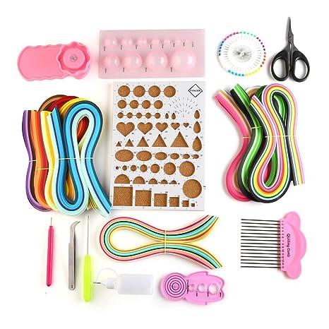free365 5 mm papel Quilling Kits con 36 colores, 960 tiras y 12 herramientas de
