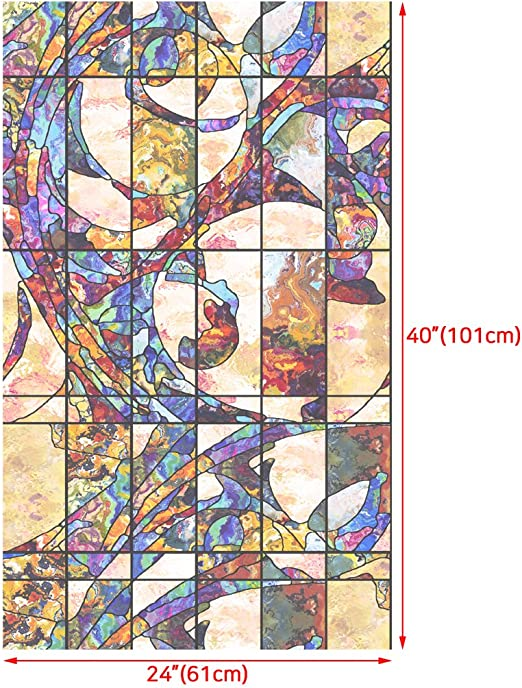 001 Royal Lifetree decorativo privacidad Vidriera ventana Flim adhesi/ón est/ática adhesivo 45/cmx2/m