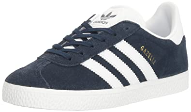 adidas Originals Boys' Gazelle C Sneaker, Collegiate Navy/White/White, 11