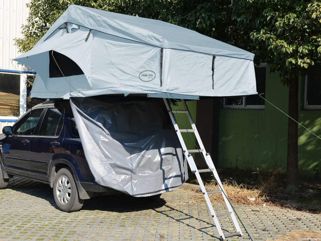 Prime Tech Extended - Tienda de campaña para el techo del coche (320 x 140 x 130 cm), color gris: Amazon.es: Deportes y aire libre