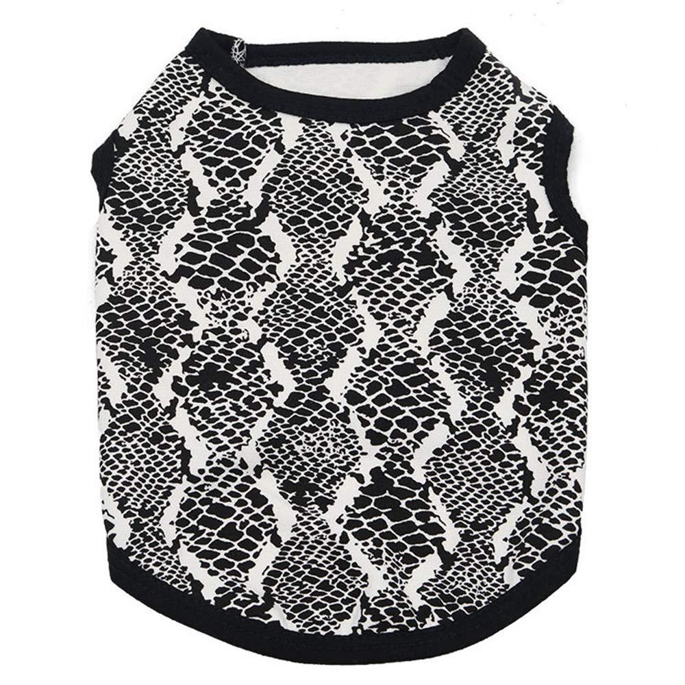 5 M 5 M Huayue Pet Clothing Cotton Print pet Vest Dog Clothing Dog Vest Easy Good Dog Coat in Spring and Summer (color   5, Size   M)