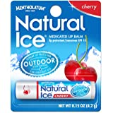 Natural Ice Cherry - SPF 15 lip balm in Pack of 12, Cherry Flavor (packaging may vary)