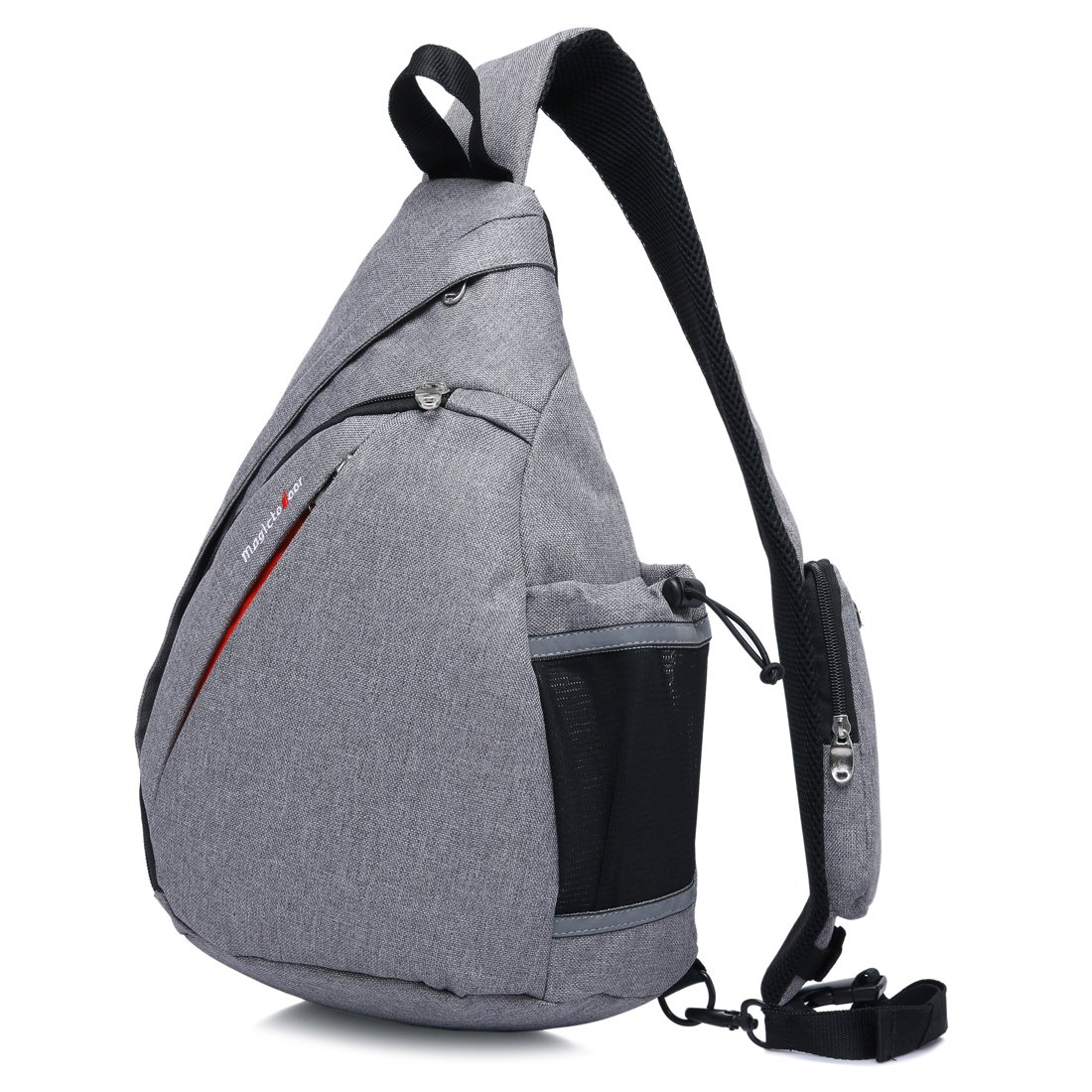 Magictodoor Sling Bag Travel Backpack Wear Over Shoulder or Crossbody Chest Bag Grey