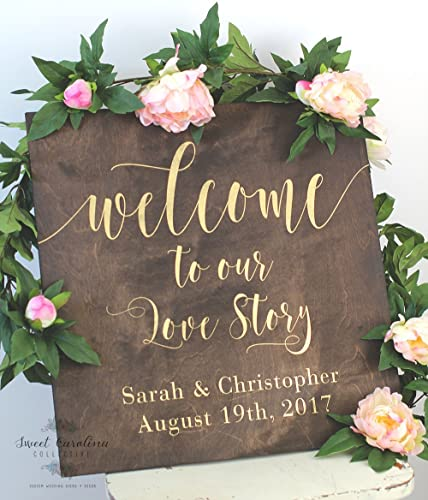 Amazon.com: Welcome to Our Wedding Sign | Wood Wedding Welcome Sign ...
