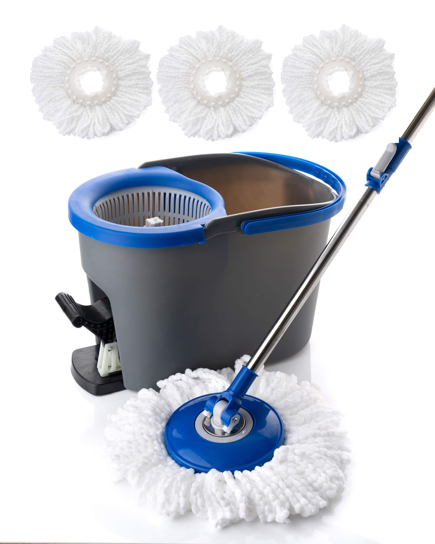 Simpli-Magic 79154 Spin Cleaning System with 3 Microfiber Mop Head Refills Included, Industrial by Simpli-Magic (Image #5)