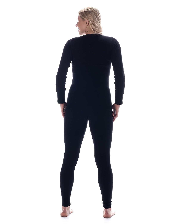 Noble Mount Frío Extremo Conjunto Térmico de Waffle Knit para Mujer - Negro -M: Amazon.es: Ropa y accesorios