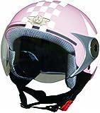ダムトラックス(DAMMTRAX) バイクヘルメット ジェット ダムキッズ ポポGT PINK STAR キッズサイズ(54CM~56CM)