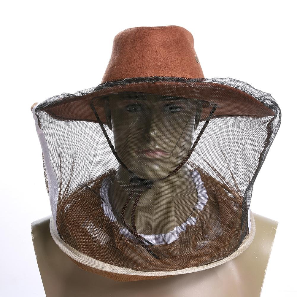 Jocestyle Beekeeping Beekeeper Cowboy Hat Mosquito Bee Insect Net Veil Face Protector Tool