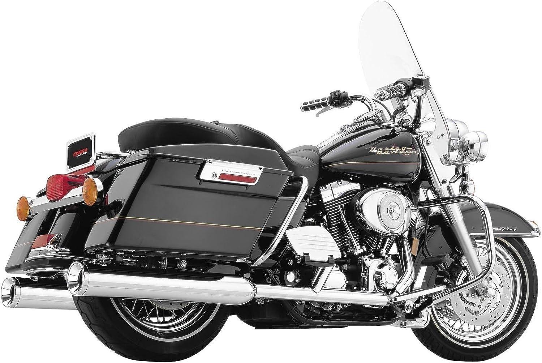 2. Rush True Dual Head Pipes for 1985-2008 Harley Davidson FLH, FLT Chrome