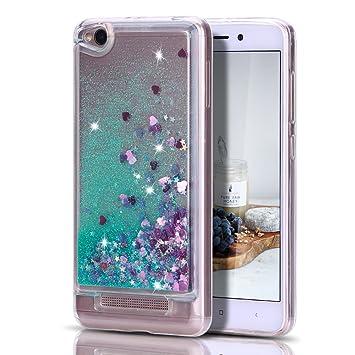 Caselover Funda Xiaomi Redmi 4A, 3D Bling Silicona TPU Arena Movediza Lentejuelas Carcasa para Redmi 4A Glitter Líquido Brillar Cristal Sparkle ...