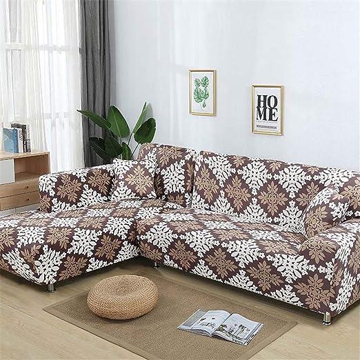 RETAINS - Funda de sofá elástica en Forma de L, Color Azul ...