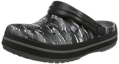 crocs Crocband Graphic Clog, Unisex - Erwachsene Clogs, Grau (Light Grey), 39/40 EU