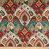 WAVERLY Sun N Shade Boho Passage Outdoor Fabric by The Yard, Fiesta