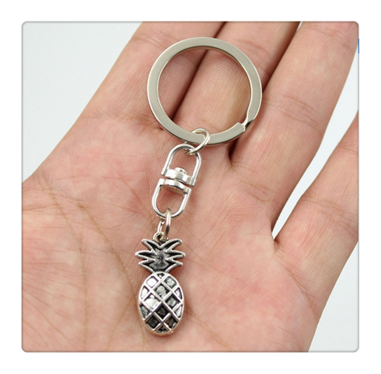 Vintage donkey Key Rings Fashion Car Keychain Silver Color Metal Key Chains Accessory