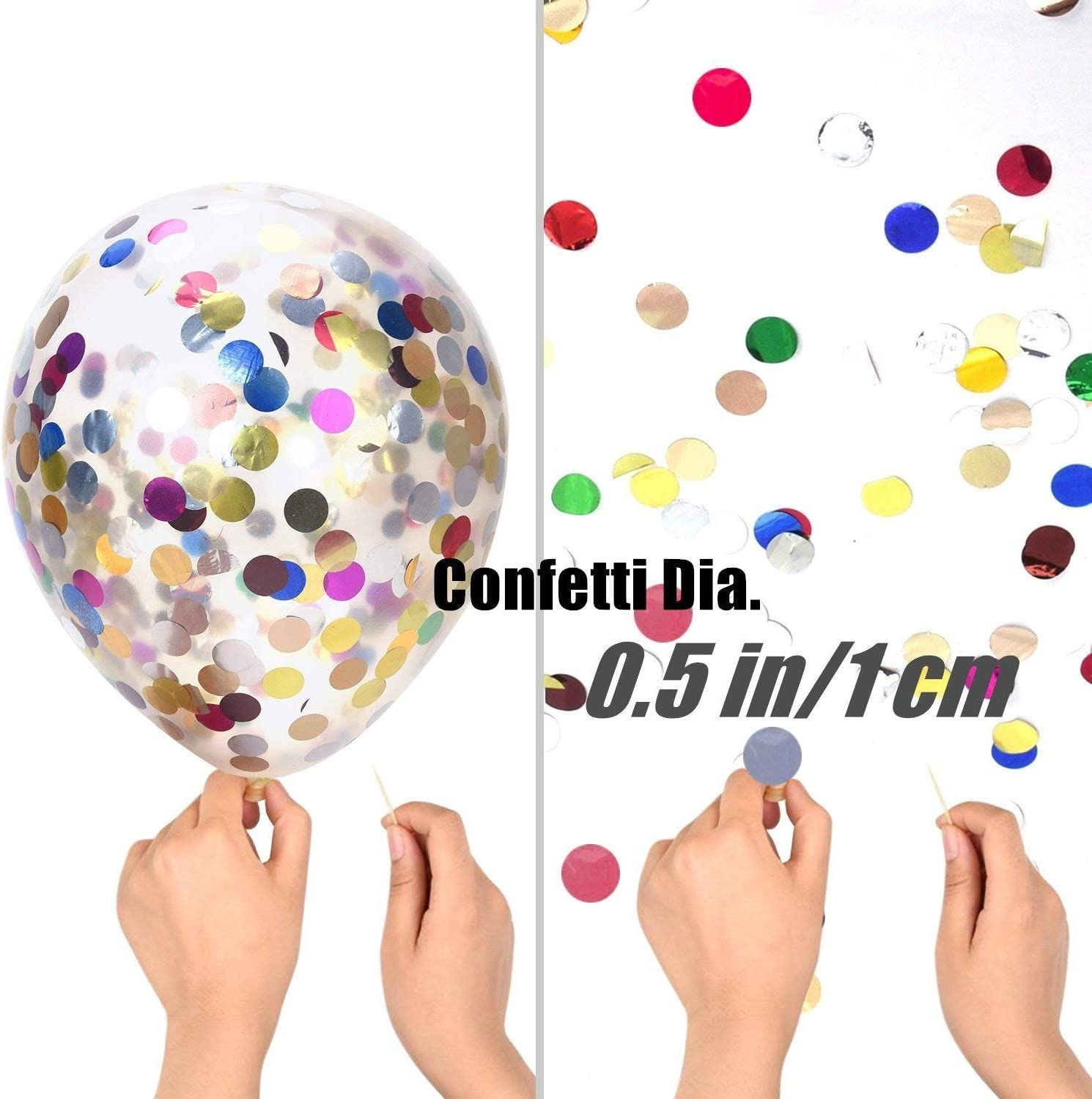 30 Piece Gold 12 Bollovi Confetti Balloons With Paper Dot Party Supply