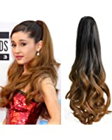 """Neverland Beauty 20""""(50cm) Ombre Two Tone Long Big Wavy Claw Curly Ponytail Clip in Hair Extensions"""