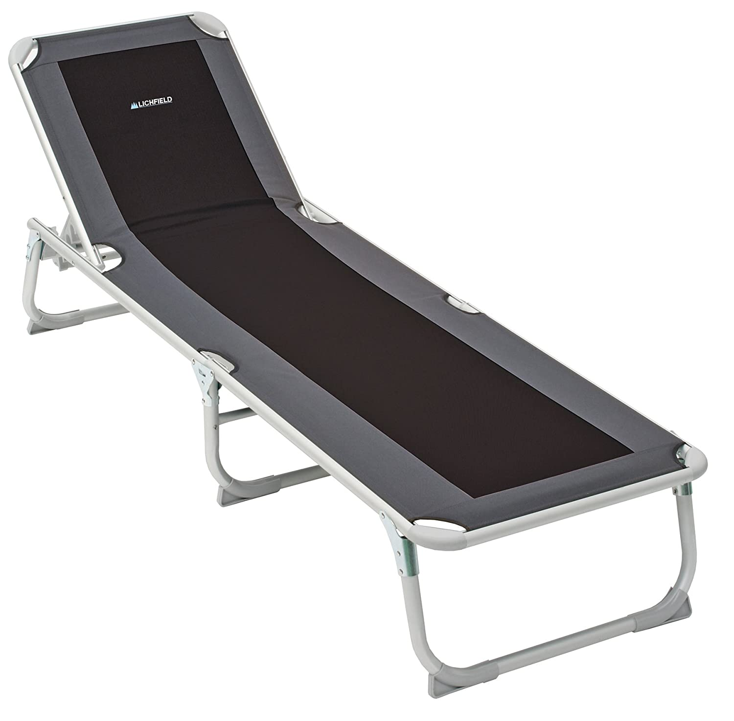 Lichfield Deluxe Camp Sun Lounger. Amazon co uk  Sunloungers   Garden Furniture   Accessories  Garden