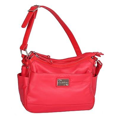 e723c25d05225 Leather 3 Section Shoulder Scoop  Amazon.co.uk  Shoes   Bags
