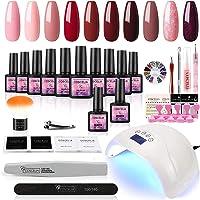 Coscelia gel nagellak set 48W UV + LED nagel lamp starter set 10x gel lakken voor UV nagel design gel nagels nagel set…