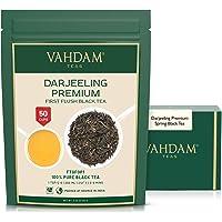 VAHDAM, First Flush Darjeeling herbata (50 filiżanek) - kwiatowa, aromatyczna i pyszna - zbierana, zapakowana i wysyłana…