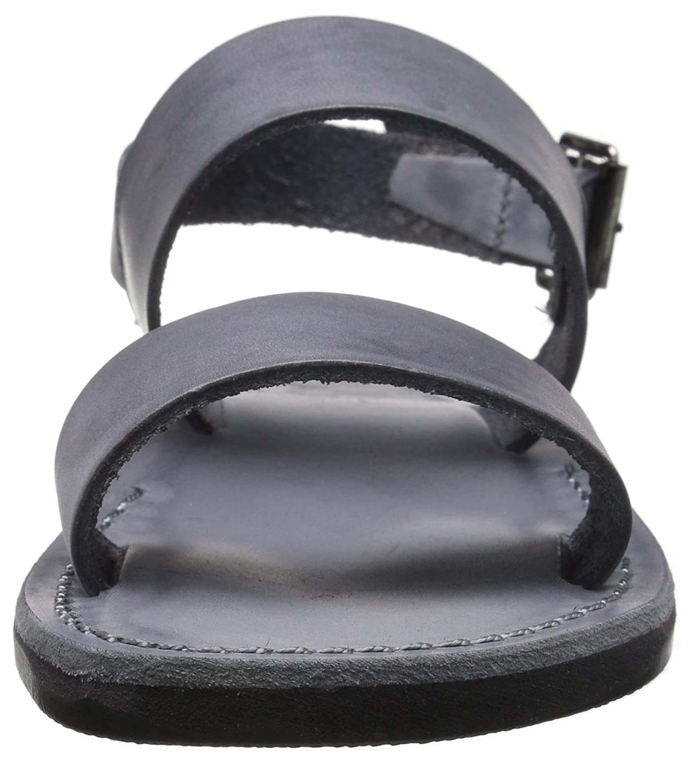 Jerusalem Sandals Women's Golan Rubber Flat Sandal B018HQ2GQO 38 M EU / 7 B(M) US|Gray