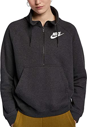 fe11628155a Amazon.com  Nike Women s Sportswear Rally Half-Zip Sweatshirt  Clothing