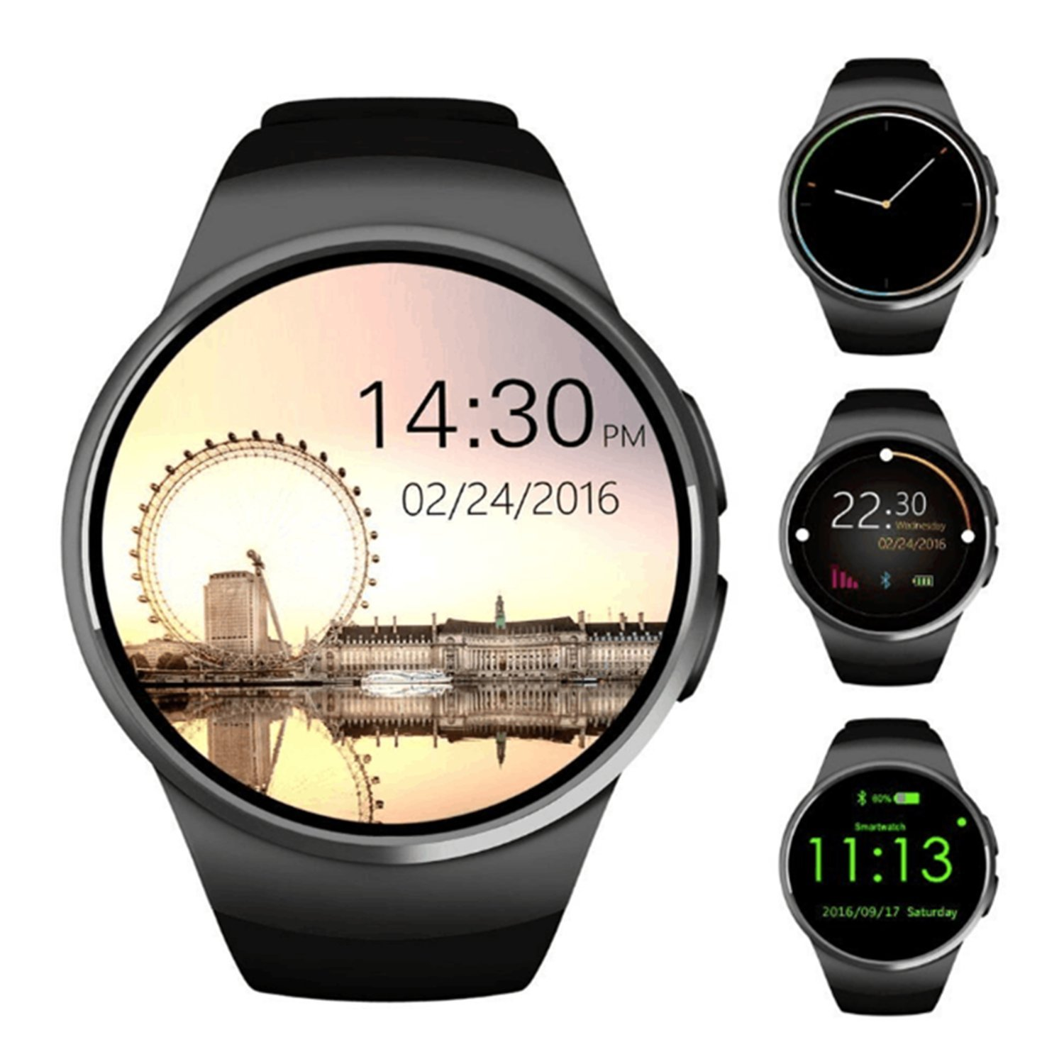 Amazon.com: SEPVER Kingwear KW18 Bluetooth Smart Watch phone ...