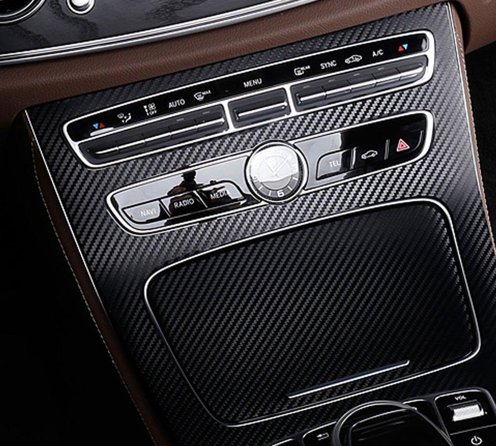 PourPlastique ABS en fibre de carbone Console Gear Cadre de coque Bordure Autocollant