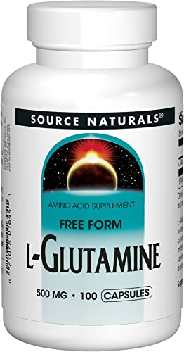 Source Naturals L-Glutamine – Free Form Amino Acid That Supports Metabolic Energy – 100 Capsules