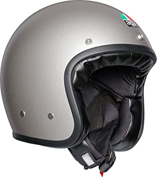AGV Legends X70 Retro Open Face Scooter - Casco de moto para bicicleta, color gris