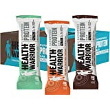 HEALTH WARRIOR Superfood Protein Bars, Sampler Pack, 3 Flavors, 1.77 Ounce, 12 Count