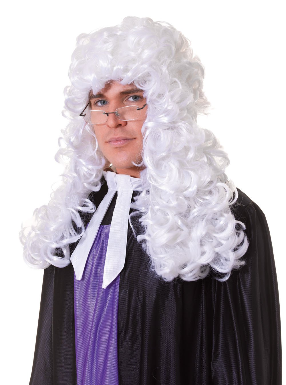Bristol Novelty BW339 Judge Budget Wig, White, One Size