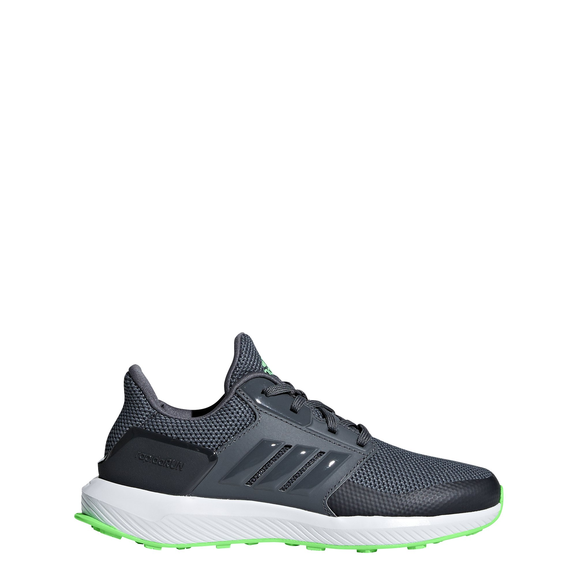 adidas Originals Unisex-Kids Rapidarun Running Shoe, Grey/Shock Lime/Carbon, 7 M US Big Kid