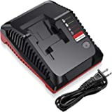 Powerextra Multi-Chemistry Battery Charger for Porter Cable 18V PCXMVC Lithium Ion & NiCad NiMh Slide PC18B PC18B-2…