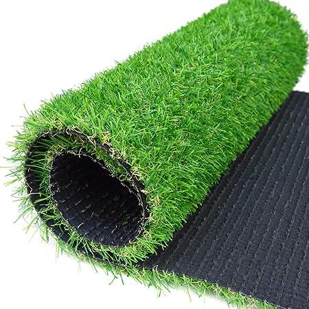 ALYR Césped sintético Alfombra, Sintético Hierba Artificial Pasto Sintético Césped con Agujeros de Drenaje Alfombra de Hierba para jardín/Piscina/Perro etc de 25 mm Hige,Green_6x18ft/2x6m: Amazon.es: Hogar
