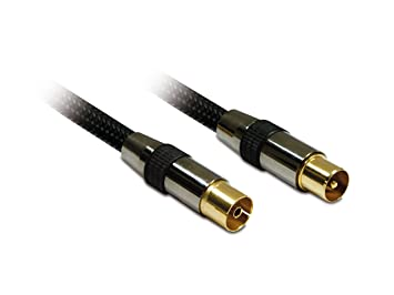Metronic 419001 - Cable coaxial TV macho a hembra de 1,5 m, dorado